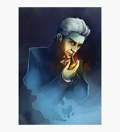 Ghostly Smoking Photographic Print