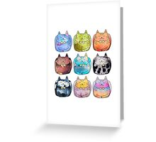 Colorful Cats Greeting Card