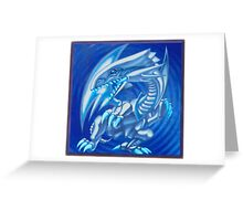 Blue eyes white dragon Greeting Card