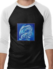 Blue eyes white dragon Men's Baseball ¾ T-Shirt