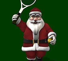 Santa Claus Playing Tennis by Mythos57