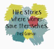 Neil Gaiman (feminist at heart) Kids Tee