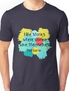 Neil Gaiman (feminist at heart) Unisex T-Shirt
