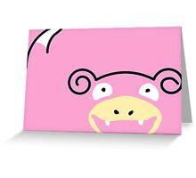 Flat slowpoke Greeting Card