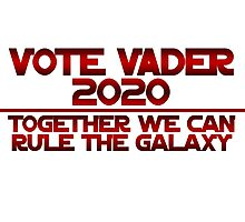 Vote Vader 2020 Photographic Print