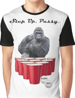 Harambe Beer Pong Step Up Graphic T-Shirt