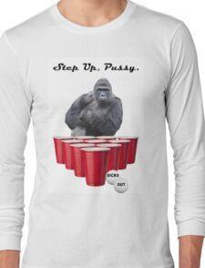 Harambe Beer Pong Step Up Long Sleeve T-Shirt