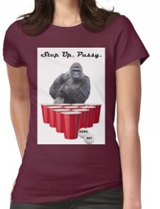 Harambe Beer Pong Step Up Womens Fitted T-Shirt