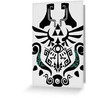 Legend of Zelda (mashup) Greeting Card