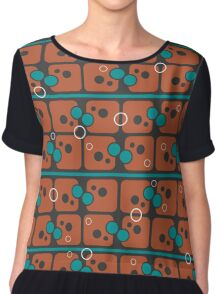 Abstract pattern on a gray background Chiffon Top