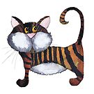 STRIPEY CAT by Hares & Critters