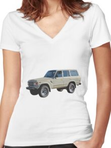 Toyota Land Cruiser Women's Fitted V-Neck T-Shirt
