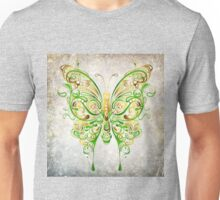Lacy Green/Yellow Butterfly Unisex T-Shirt