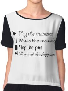 Music Life Quote Chiffon Top