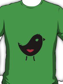Bird & Girl Illusion (Inverted) T-Shirt