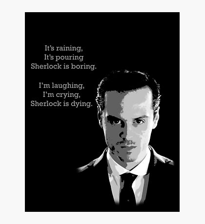 Sherlock Holmes Moriarty  Photographic Print