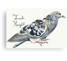 Trash Knight Pigeon Canvas Print