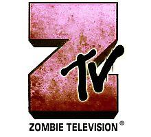 Zombie TV Photographic Print