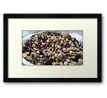 Three Bean Salad Framed Print