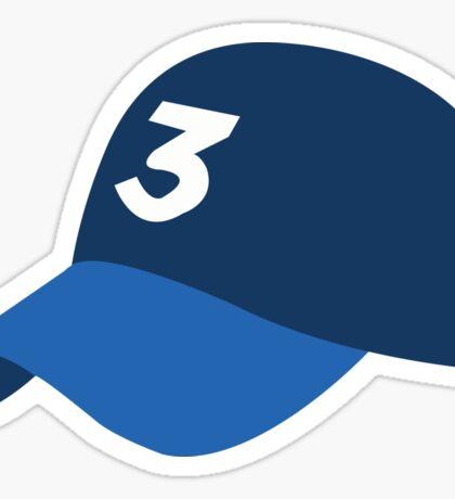 Chance 3 hat Sticker