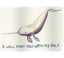 Fight Narwhal Poster