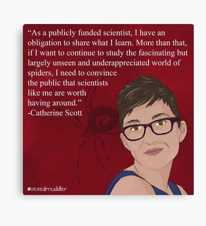 #SciComm100: Catherine Scott Canvas Print