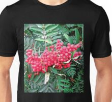Red berries and green leaves Unisex T-Shirt