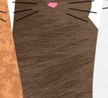 Three Cats in a Row Sticker