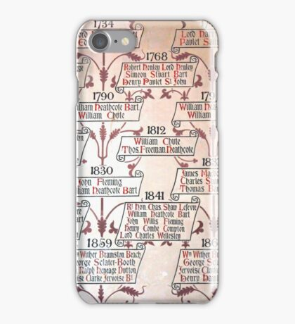 Winchester Castle - Family Tree iPhone Case/Skin