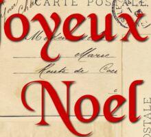 Paris Joyeux Noel Vintage Christmas Sticker
