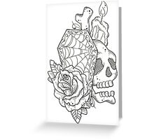 Coffin Assemblage Greeting Card