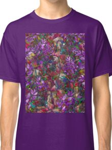 Floral Abstract Stained Glass Classic T-Shirt