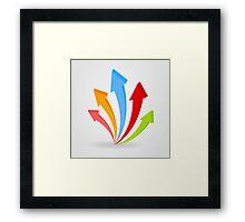 Arrow an icon Framed Print