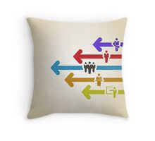 Arrow business Throw Pillow
