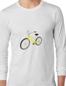 Yellow Bicycle  Long Sleeve T-Shirt