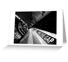 London - Underground - Mind The Gap Greeting Card