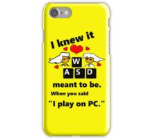 """""""Meant to be""""  PC Master Race Steam Gamer Valentine iPhone Case/Skin"""