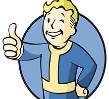 Fallout 3 Vault Boy (Blue) by martdude