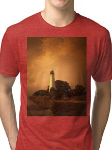 St. Marks Lighthouse, Florida Tri-blend T-Shirt