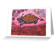 The Gamer Flies West Greeting Card