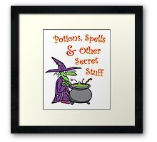 Agatha's Potions and Spells Framed Print