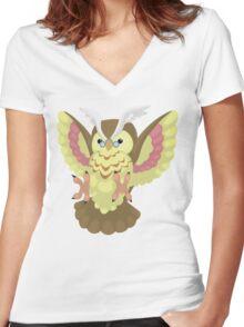 Fluffal Owl - Yu-Gi-Oh! Women's Fitted V-Neck T-Shirt