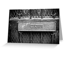 Signs: Mail Greeting Card