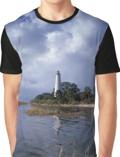 St. Marks Lighthouse, Florida Graphic T-Shirt