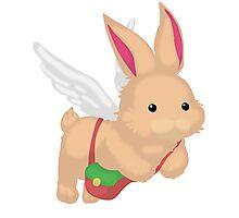 Fluffal Rabbit - Yu-Gi-Oh! Photographic Print