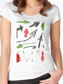 Arrow drawing Women's Fitted Scoop T-Shirt