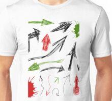 Arrow drawing Unisex T-Shirt