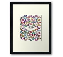 Game of Thrones Ensemble - 'When you play the Game of Thrones, you win or you die' Framed Print