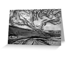 map to vincent Greeting Card