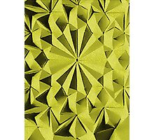 Yellow fractals pattern, tiled Photographic Print